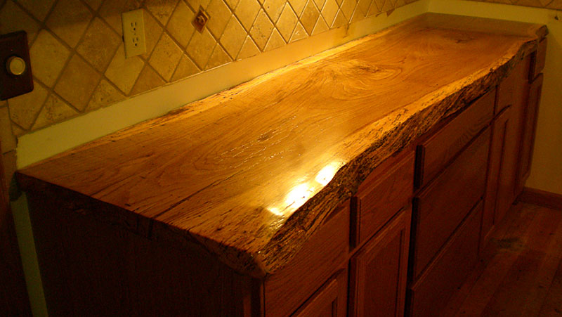 Logan Wood Works Rustic Countertop With Live Edge