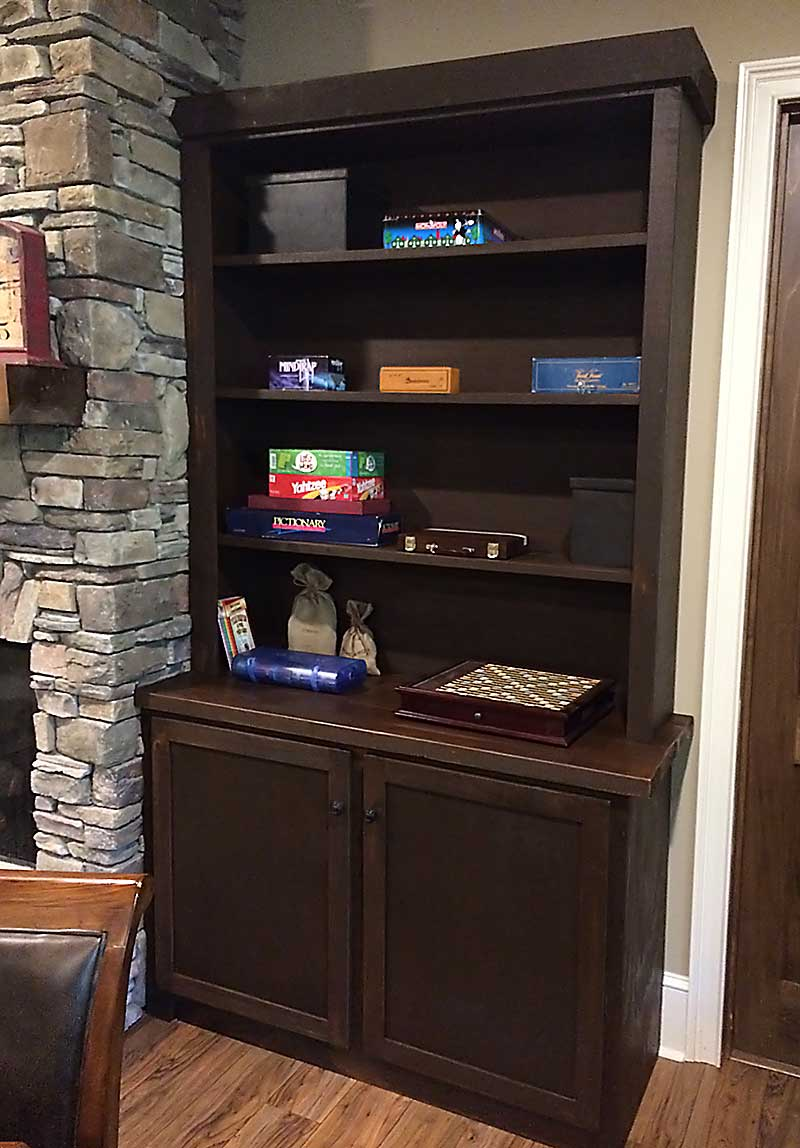 Logan Wood Works Rustic Built In Entertainment Center