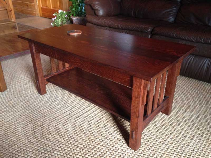 Mission Style Oak Coffee And End Tables