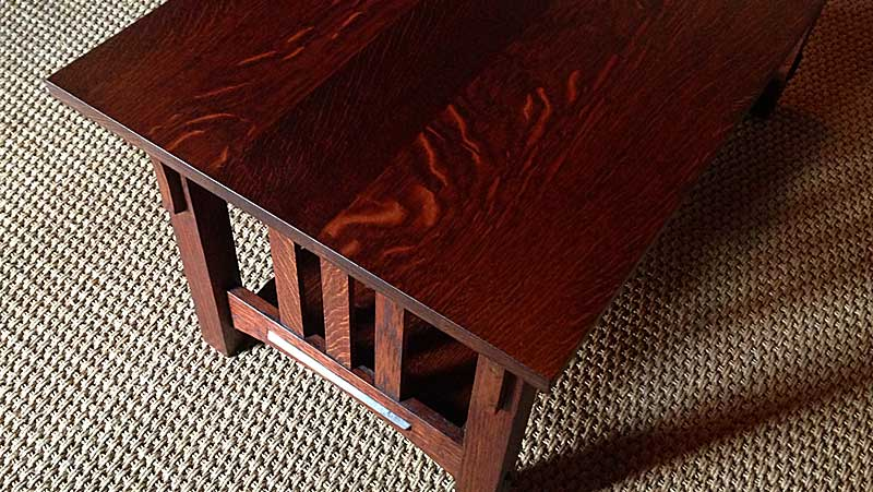 Matching Custom Mission Style Oak Coffee and End Tables