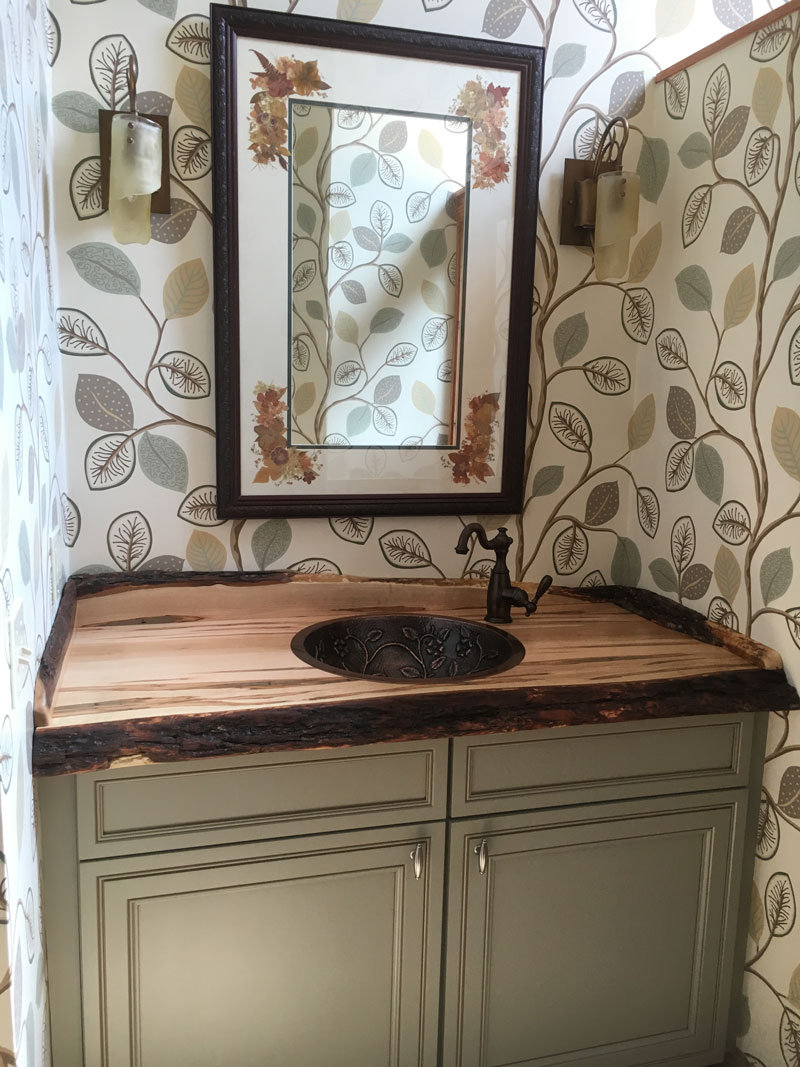 Logan Wood Works Live Edge Vanity Top