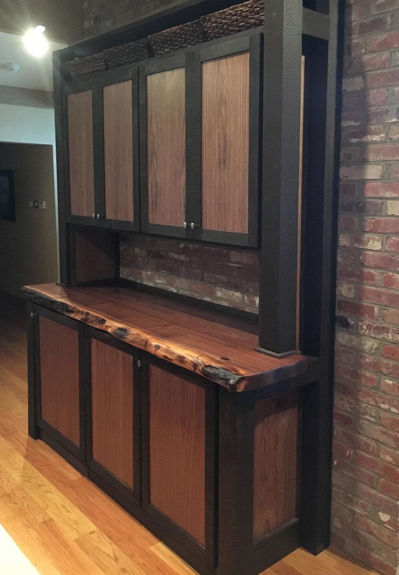 Logan Wood Works Free Standing Storage Media Cabinet